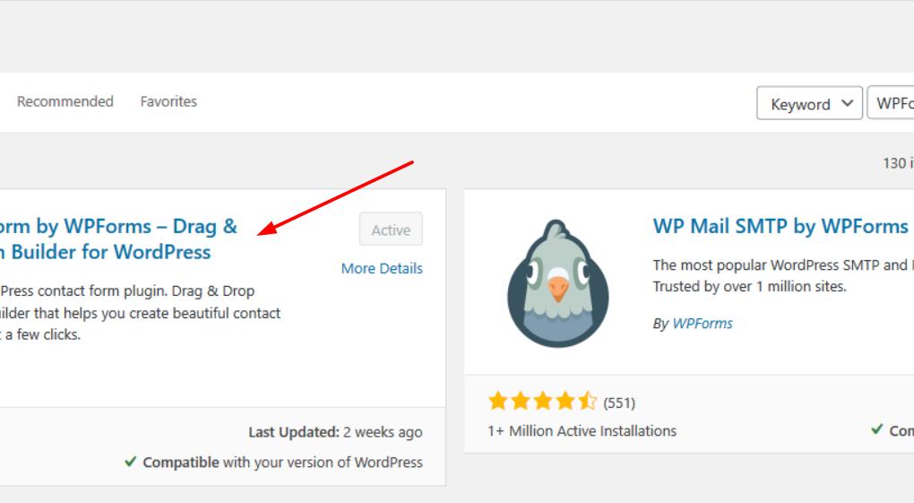 Install WPForms