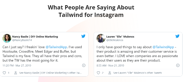 What People Say about TailwindApp