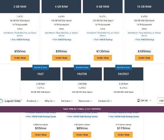 Liquidweb Plans Pricing