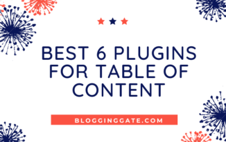 Best 6 plugins for Table of content