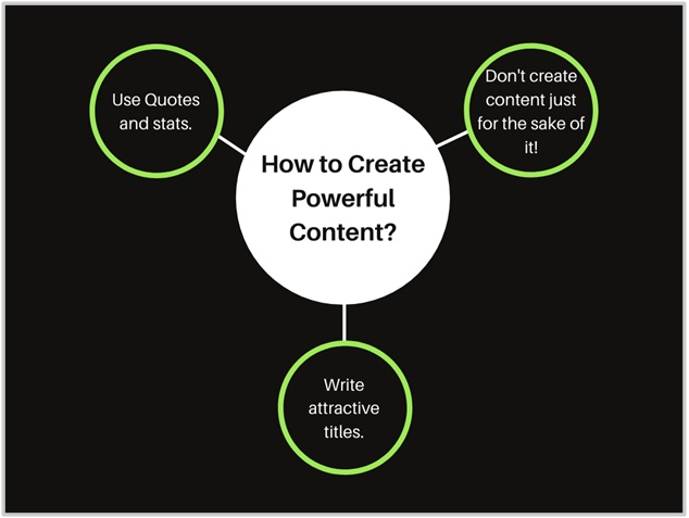 Creating powerful content is the biggest strategy itself